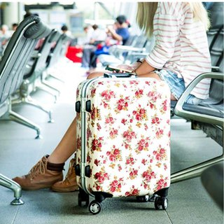 Colorful rose red - handmade printed fashion aluminum frame 20 吋 suitcase / suitcase