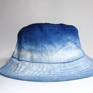 Indigo Hand-dyed Cotton Hat - First Sunlight