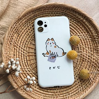 Cat loves to eat fish frosted matte phone hard shell
