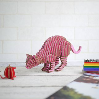 THANK CAT/3D Craft Gift/DIY/Pink Dot