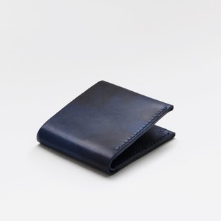 Leather Wallet – Navy Camouflage