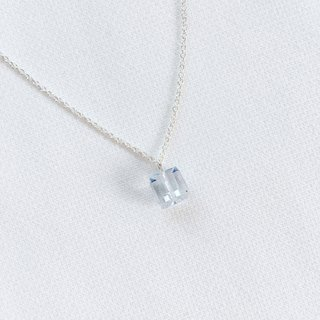 Blue gift box clavicle chain S925 sterling silver necklace anti-allergy