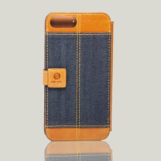 Bronx - iPhone 7 plus / iPhone 8 plus oil wax leather phone back cover - camel