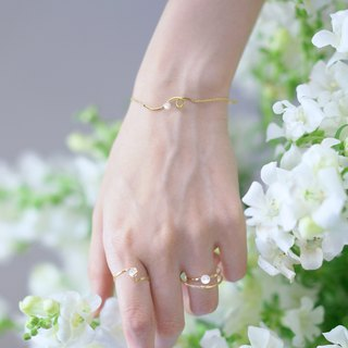 14K alloy Snapdragon Flower Snapdragon Flower Bracelet