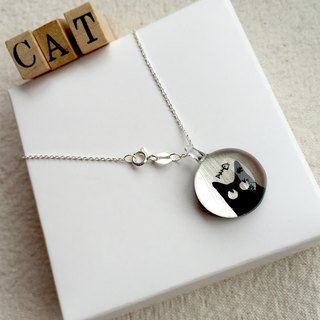 Glass pendant Innocent cat