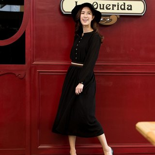 Late summer specials ~ chiffon dress - black