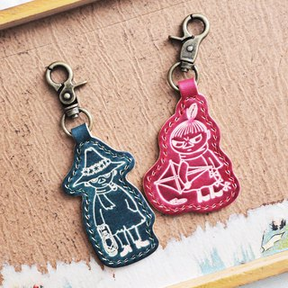 MOOMIN x Hong Kong-made leather Ami Slican hand dyed key ring material package officially authorized