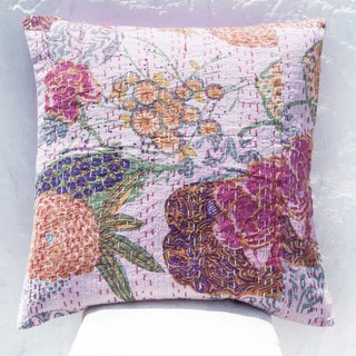 Flower Embroidered Pillow Case Cotton Pillow Case Ethnic Wind Pillow Case - French Style Romantic Color Flower Forest