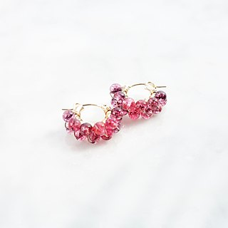 14kgf*Spring Jerry multicolored quartz pierced earring/earring
