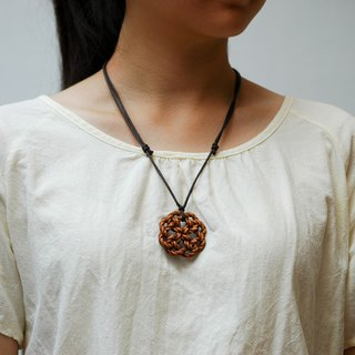 Wooden Eternal Knot necklace Wood Pendant