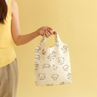 Folding Pocket Shopping Bag S-05 Animal Graffiti, E2D15947