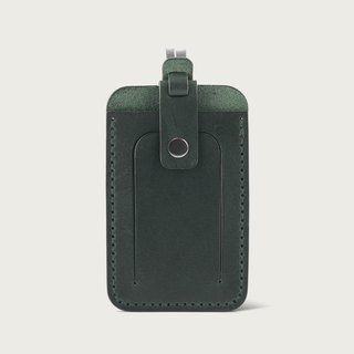 LINTZAN luggage tag / leisure card holder -- forest green