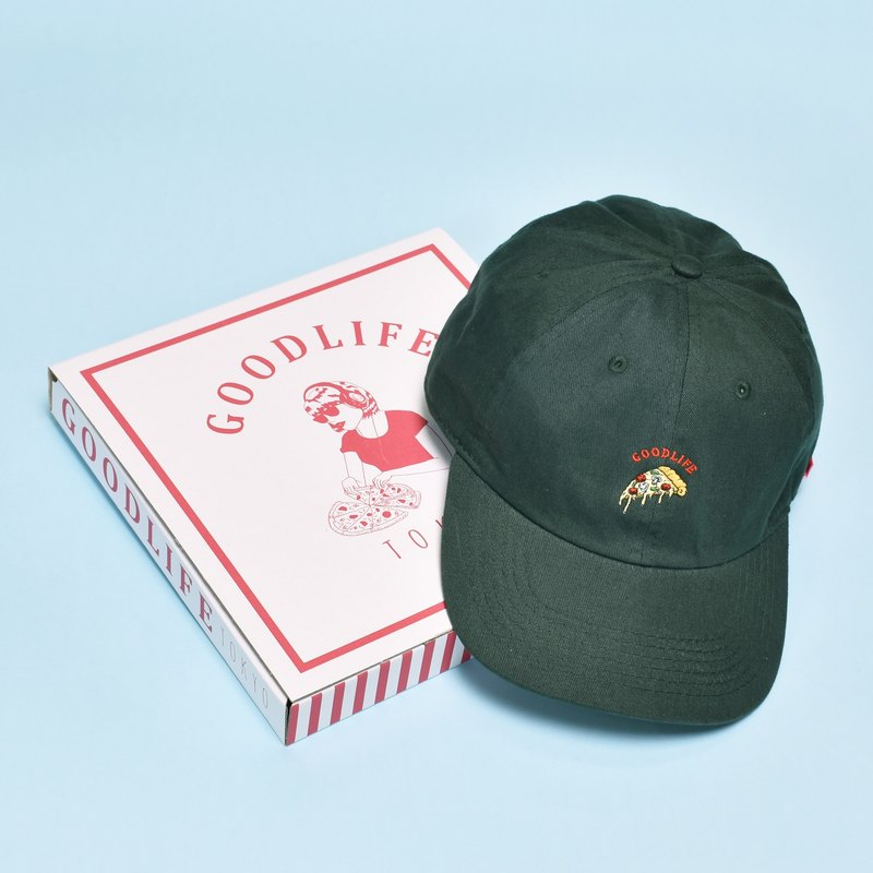 'PIZZA SLICE' Needle Work Cap D-GREEN