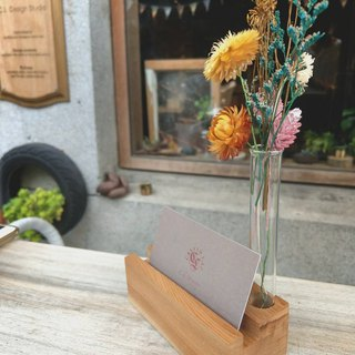 CL Studio [Selected Elm - Simple Style Mobile Phone Holder / Business Card Holder] with test tubes and dry flowers