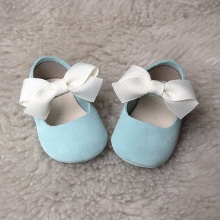 Light Blue Baby Girl Shoes, Baby Moccasins, Leather Mary Jane, Baby Moccs