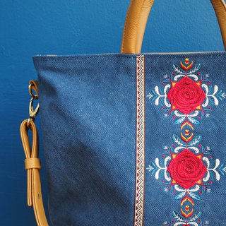 Hoola Rose Navy Lucia Bag