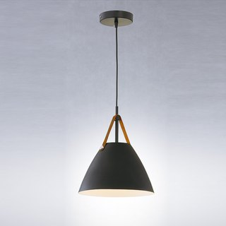 STRAP small leather black chandeliers