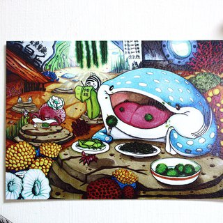 Tofu shark spot spot whale shark Postcard Stories - Sea Queen Restaurant