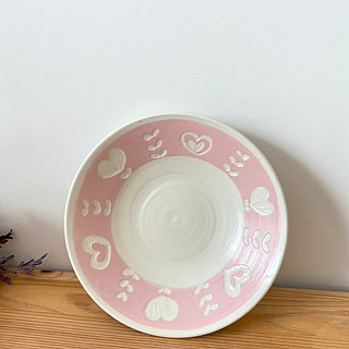 Valentine's Day - Love / Leaflet Pottery (Pink/Pink Green)