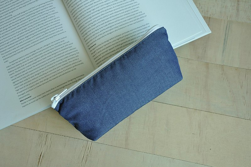 ENDURE/Large size pencil case/Include 2 zip pockets/Danin dark blue