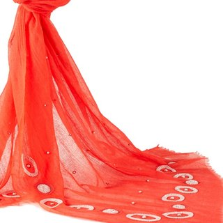 [Angel Woolen] exquisite beaded (red) pashmina Indian hand-delicate shawl