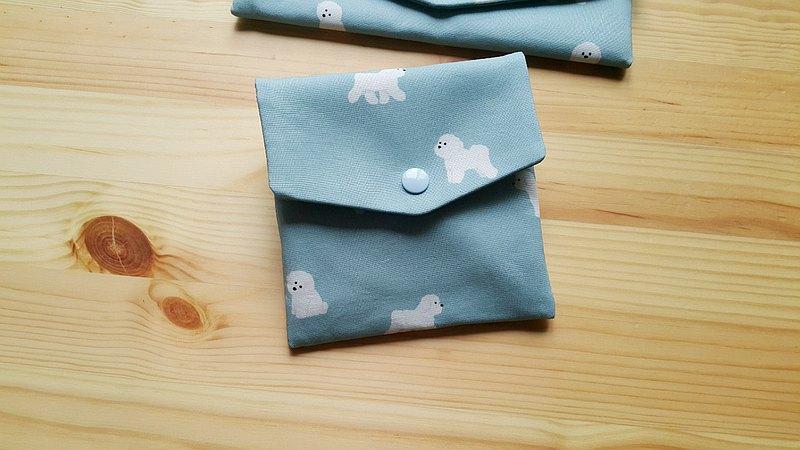 比熊狗狗 對折口罩收納袋  綿綿包  多功能小包 超實用 獨家款