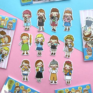 Hong Kong Shopping Street I Sticker Pack I