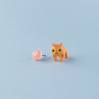 Exotic Shorthair Cat - Polymer Clay Earrings, Handmade&Handpaited Catlover Gift