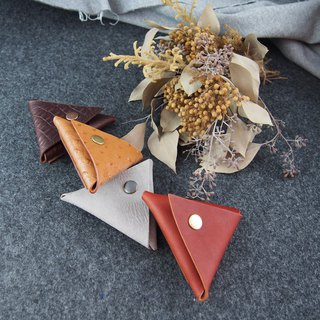 Triangle coin purse leather