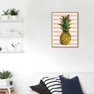 Scandinavian fresh style living room decoration painting study restaurant painting pineapple