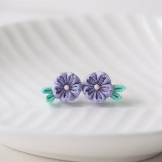 Medium Purple Cherry Blossom Sakura stud Earrings Clip-on 14KGF, S925 custom