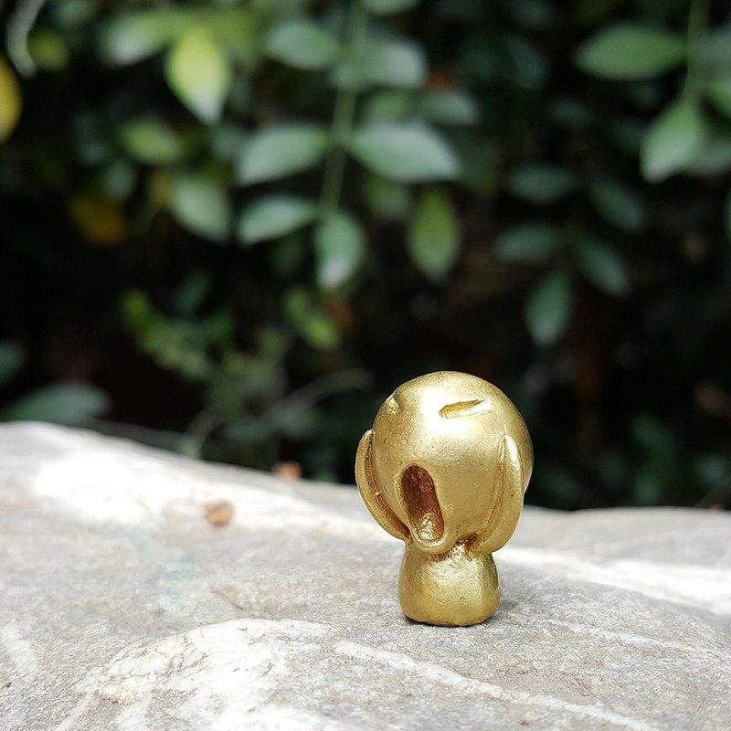 小人系列 - 吶喊娃娃 黃銅手作小偶 療癒擺飾