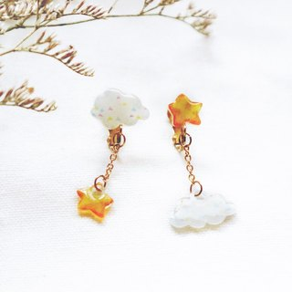 Clouds and star earrings