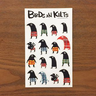 Birds in Kilts Sticker