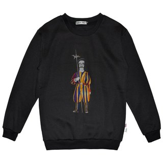 British Fashion Brand -Baker Street- Swiss Guard Printed Sweater