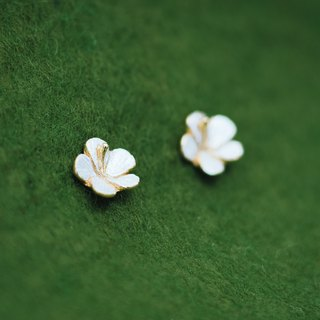 Hibiscus earrings - flower earrings - Japanese -  Non-allergenic