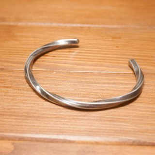 Full Handmade Twisted Silver Bracelet