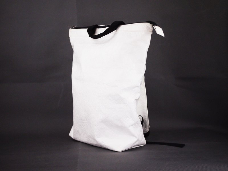 Tyvek 2 way Convertible (2 in 1) Backpack Handbag Tote Bag WHITE eco friendly