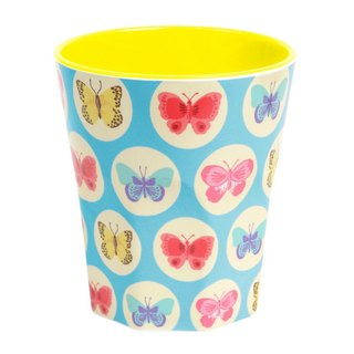Butterfly Retro cup - Blue