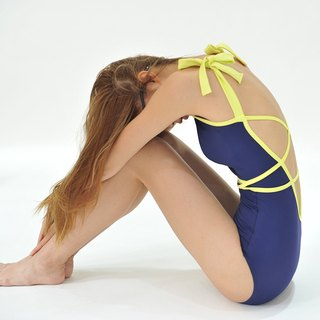 3-in-1 Starry Night suit - NavyYellow / swimwear / XS