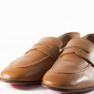 ITA BOTTEGA[Made in Italy]Brown gentleman loafers shoes