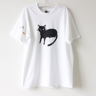 Spoiled Black Cat & Fox T shirt I Forest Daily