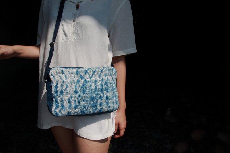 染織作系列 / 藍染 / 全織作 / 側背包