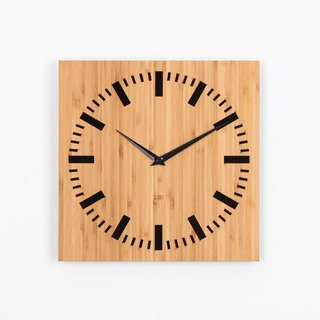LOO bamboo mute wall clock |. Index black