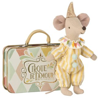 Clown Mouse In travel Suitcase