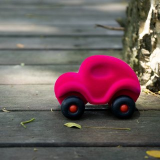 US Rubbabu Natural Latex Cart - - Little Rubbabu Car - - Biodegradable Infant Green Toys