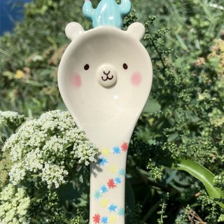 Grass mud horse spoon small flower