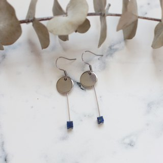 Stainless steel lapis earrings