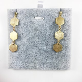 "Japanese ""Honeycomb"" 925 Silver Earrings III"