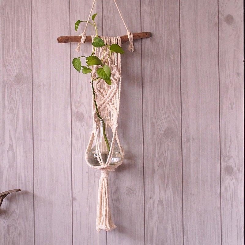 手工編織掛飾 漂流木 植物掛飾 Macrame plant Hanging